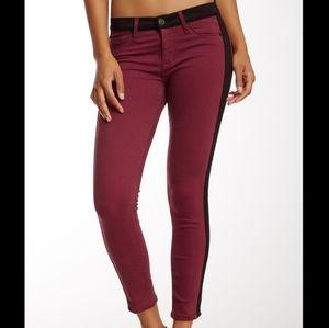 🌹 3/$30 Hudson Leeloo Colorblock Red Skinny Jeans